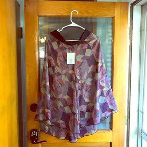Lularoe Lola skirt boho patchwork NWT xl